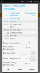 Water temperature calculator.